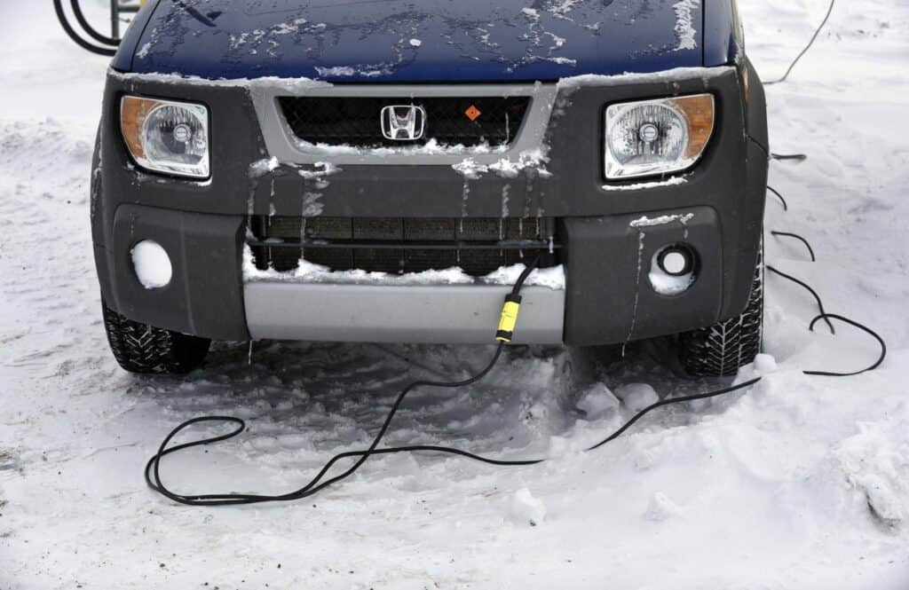 Showing what a block heater is