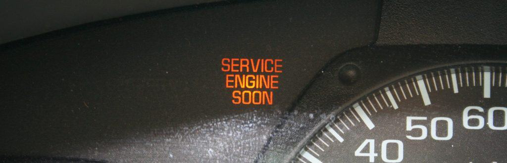 Example of a service engine soon light on a GMC car